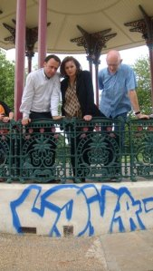 Graffiti on Clapham Common bandstand