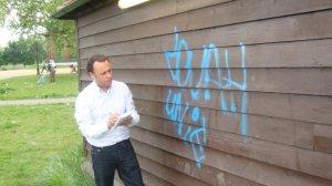 Graffiti on Clapham Common