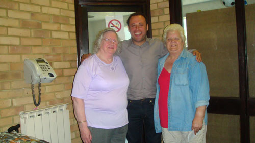 Councillor Wellbelove with residents at the Heath Road surgery